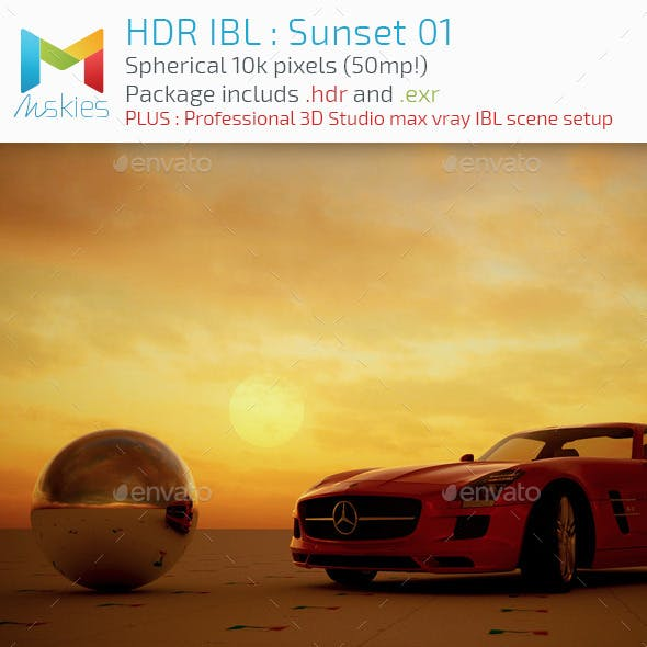 HDR IBL : Sunset 01