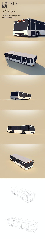 Long City Bus - 3DOcean Item for Sale