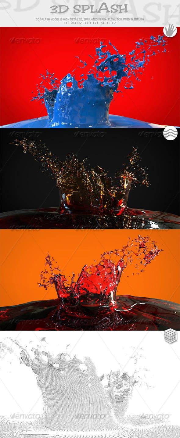 HD Crown Water Paint Liquid Splash 03 - 3DOcean Item for Sale