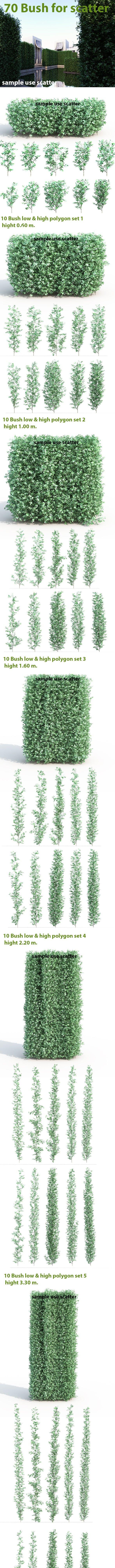 70 Bush For Scatter  - 3DOcean Item for Sale