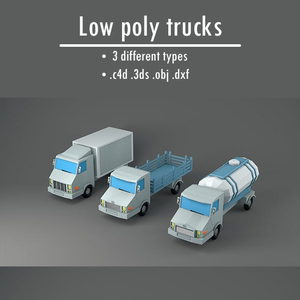 Pack of Low Poly Trucks