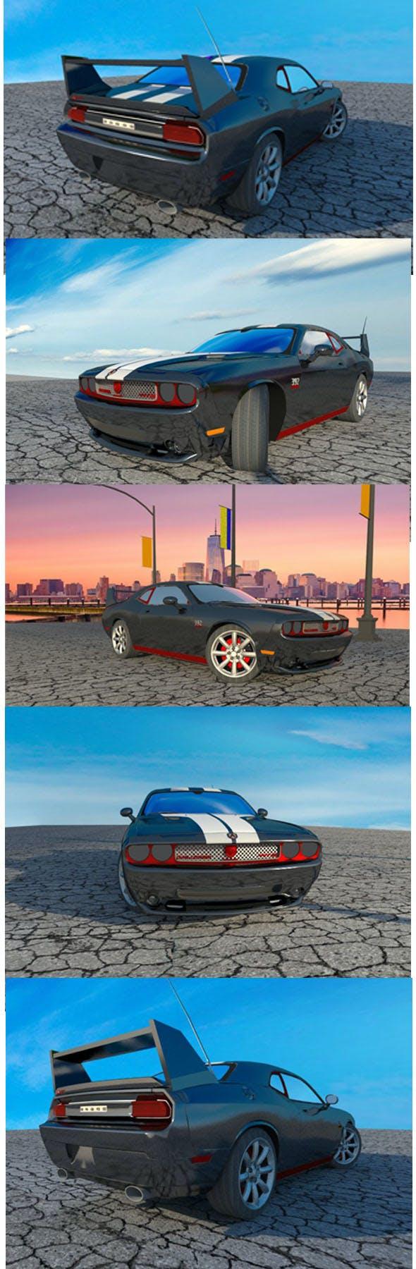 Dodge Challenger silver - 3DOcean Item for Sale