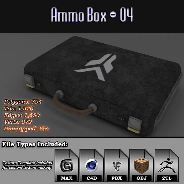 Low Poly AmmoBox - 04