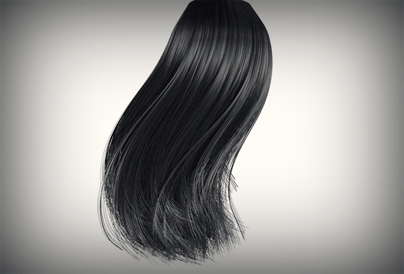 Black Hair - 3DOcean Item for Sale