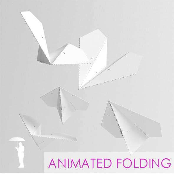 Folding Paper Plane animation