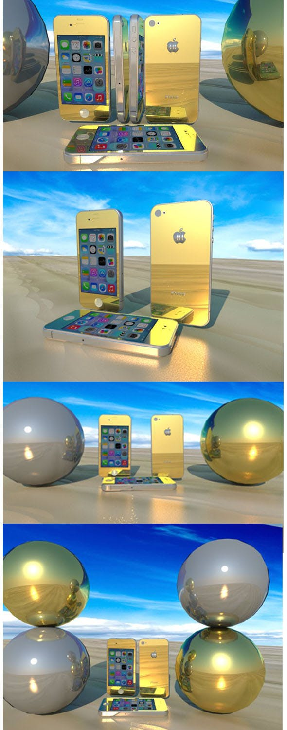 GOLDEN & SILVER iPhone 4 - 3DOcean Item for Sale