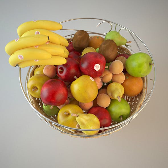 Fruit Basket - 3DOcean Item for Sale