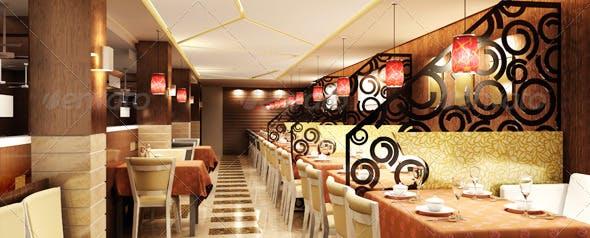 Restaurant Interior 3D model - 3DOcean Item for Sale