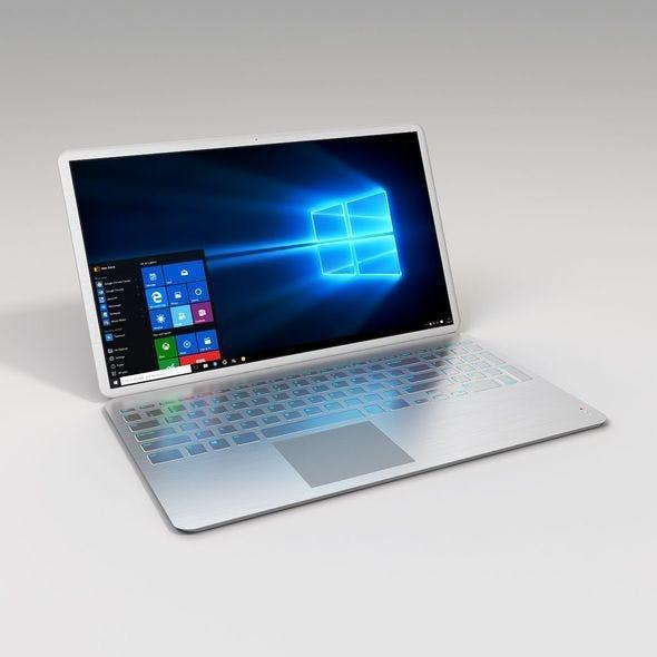 Metalic Laptop - 3DOcean Item for Sale