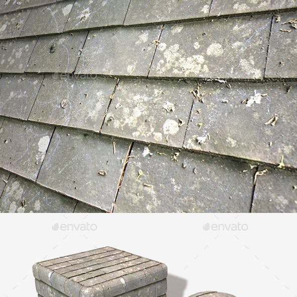 Grey Roof Tiles Seamless Texture