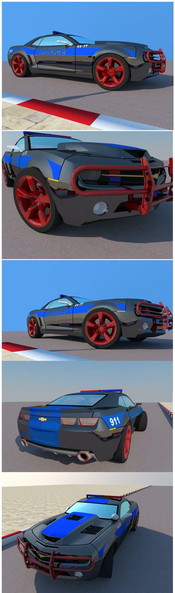 Chevrolet CAMARO police car - 3DOcean Item for Sale