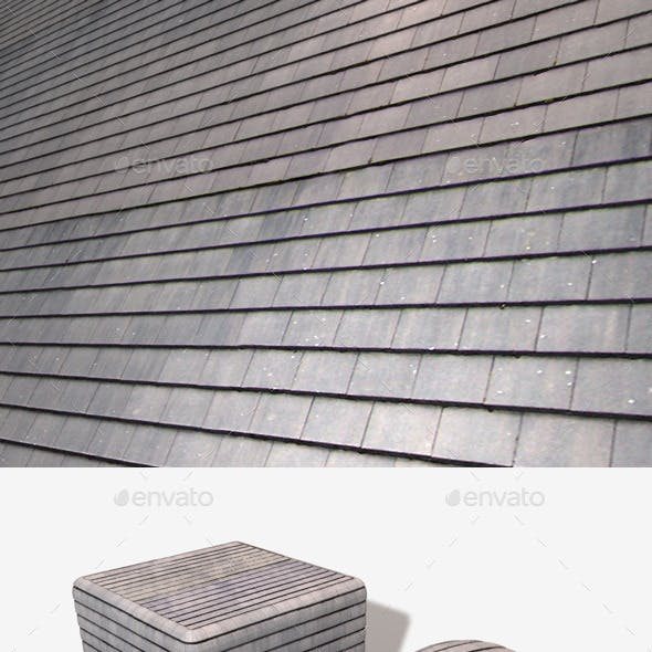New Clean Roof Tiles Seamless Texture