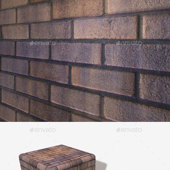 Orange Purple Brick Wall Seamless Texture