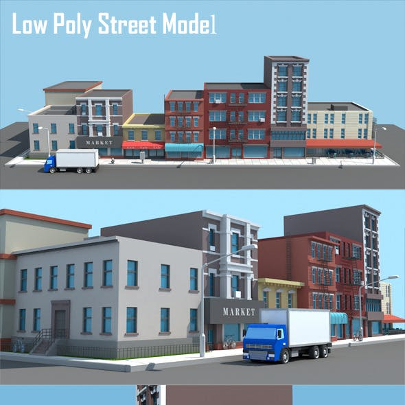 Low Poly Street Model