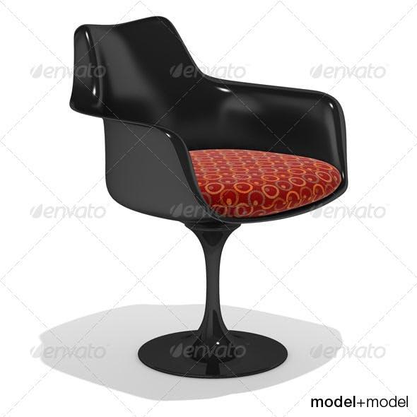 Knoll Tulip armchair - 3DOcean Item for Sale