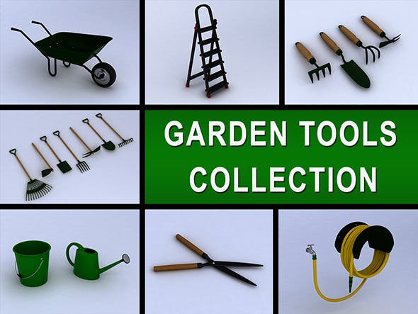 Garden tools collection - 3DOcean Item for Sale