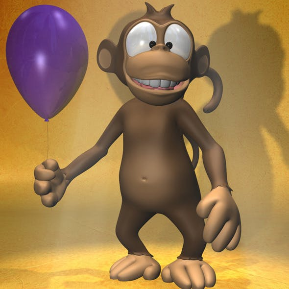 Cartoon monkey RIGGED