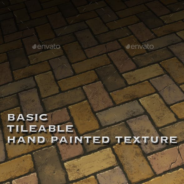 Basic Tile-able Brick Floor - Hand Painted