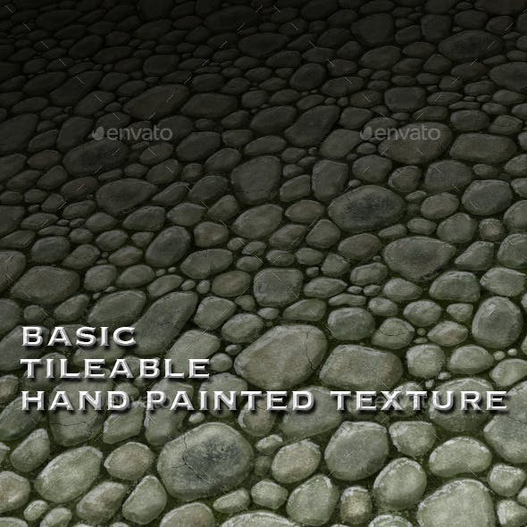 Tile-able Texture Rough Stone Floor - Hand-painted - 3DOcean Item for Sale