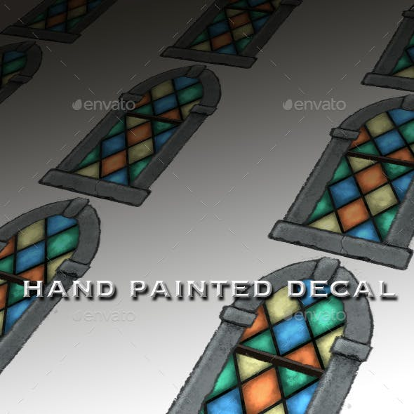 Stained Glass Window Decal - 3DOcean Item for Sale