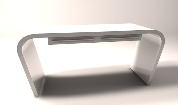 Minimalist office computer desk - 3DOcean Item for Sale