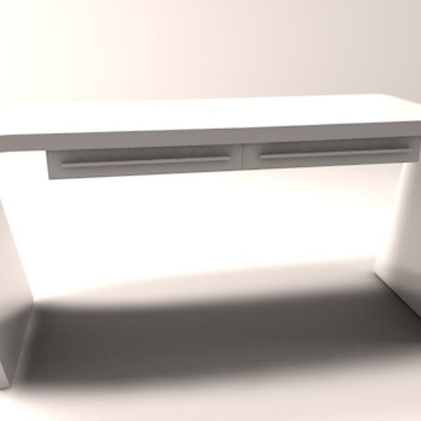 Minimalist office computer desk