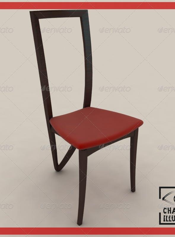 3 legged dining chair - 3DOcean Item for Sale