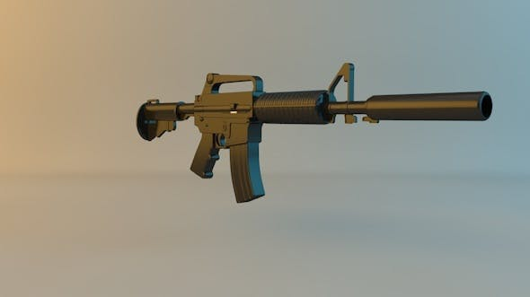 M4A1-S Carabine - 3DOcean Item for Sale
