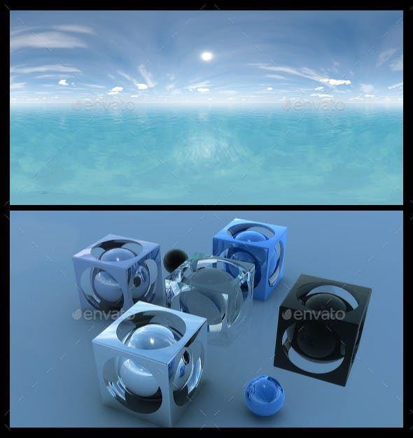Ocean Blue Clouds 4 - HDRI - 3DOcean Item for Sale