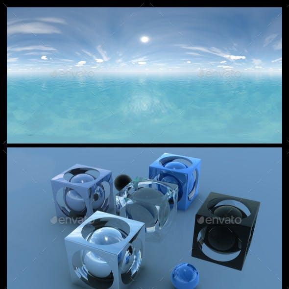 Ocean Blue Clouds 4 - HDRI