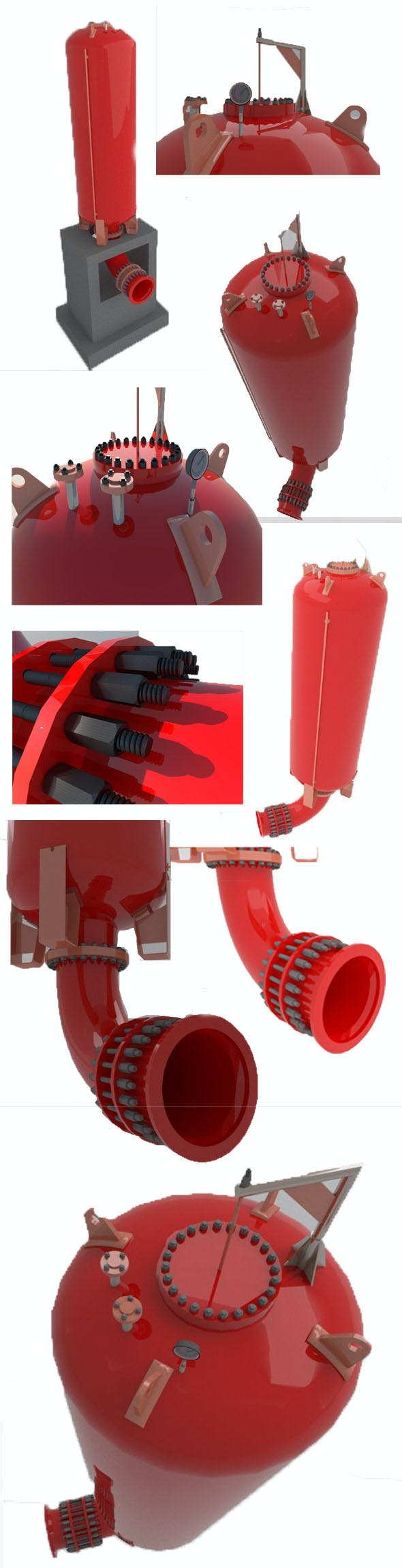 Hydraulic and water pression tank - 3DOcean Item for Sale