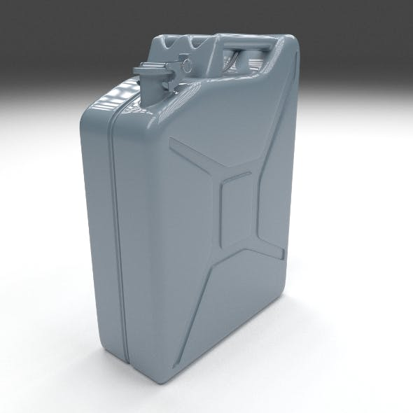 Jerry Can Blue - 3DOcean Item for Sale