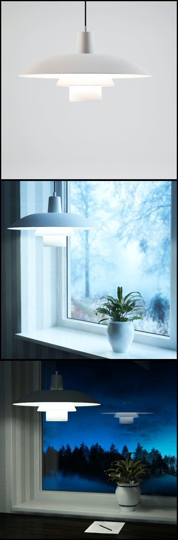 Louis Poulsen (Poul Henningsen) 3/4 Ceiling Lamp - 3DOcean Item for Sale