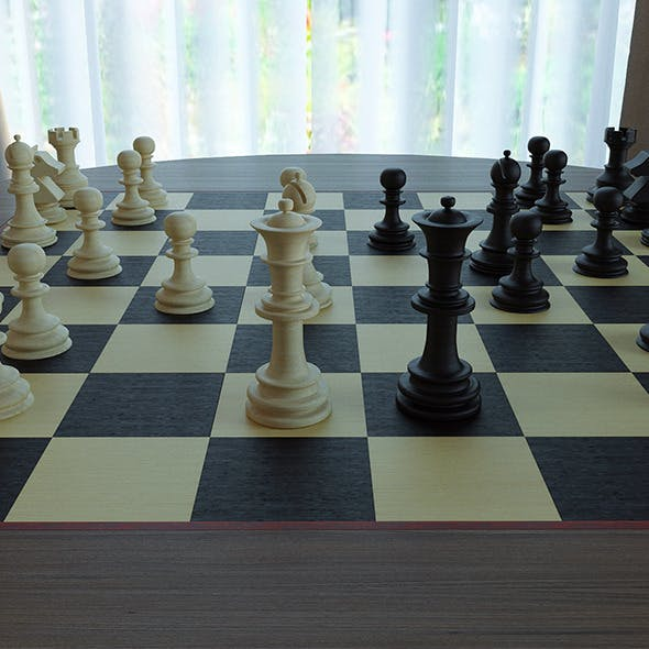 Chess Table - 3DOcean Item for Sale