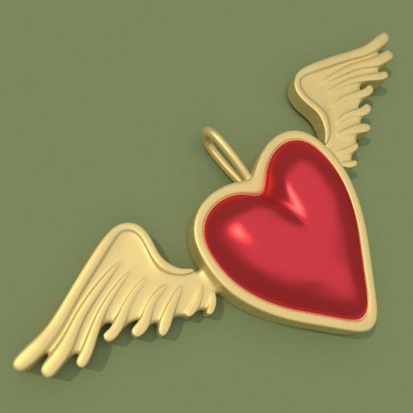 Heart Wings Jewelry - 3DOcean Item for Sale