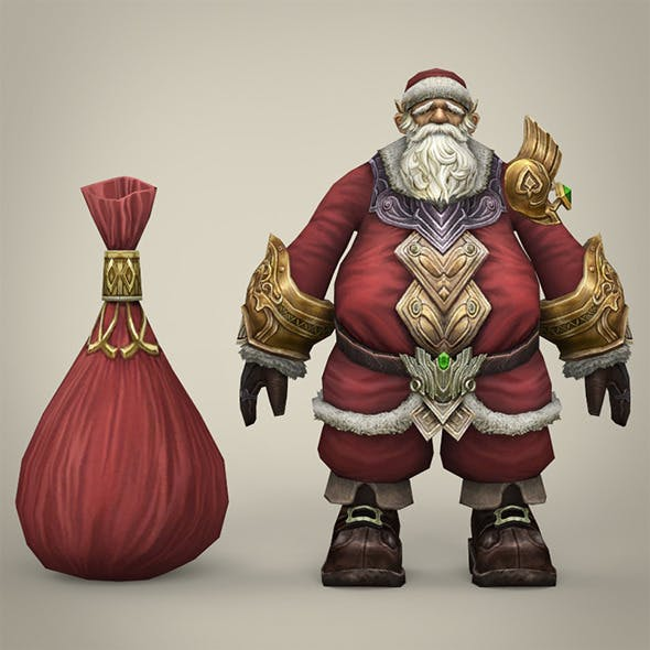 Fantasy Santa Claus with Bag