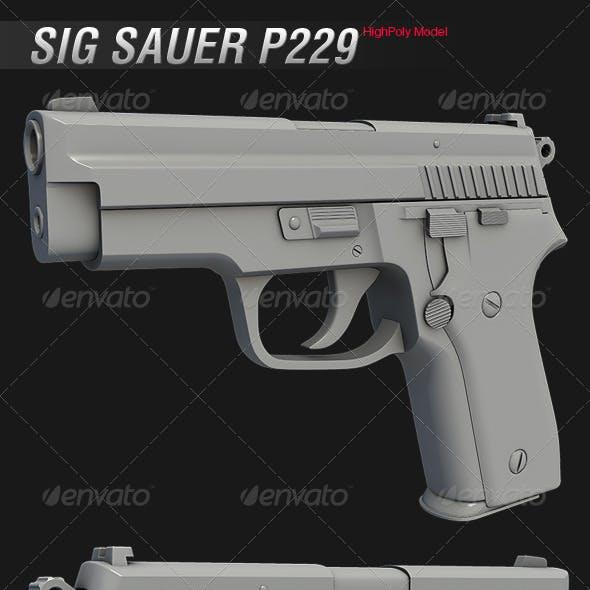 Sig Sauer P229 HighPoly Model