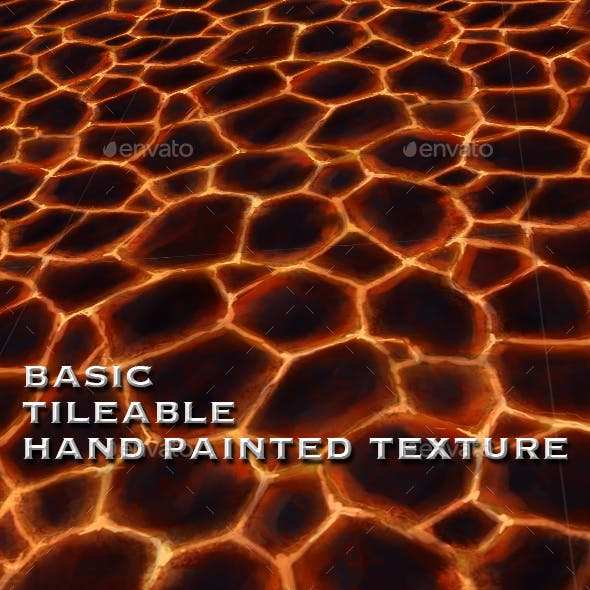 Lava Ground Tile - Seamless Hand Painted Texture