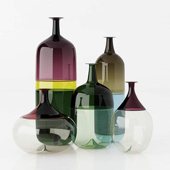 """Le Bolle"" Venini vases"