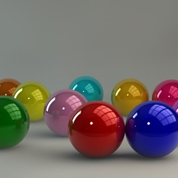Glossy materials (12 pack) for C4D