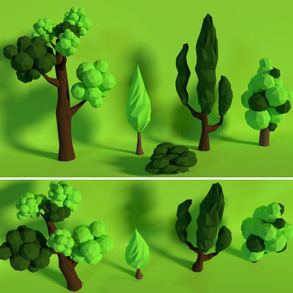 LowPoly Trees .Pack10