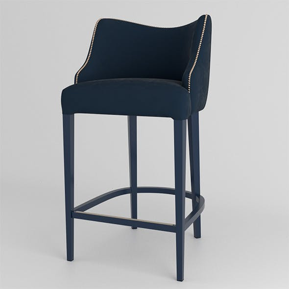 Becomes Me Bar Stool - 3DOcean Item for Sale