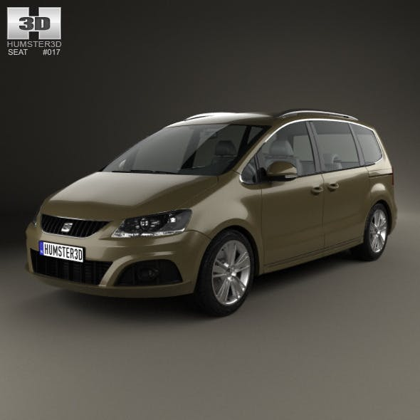Seat Alhambra 2010 - 3DOcean Item for Sale