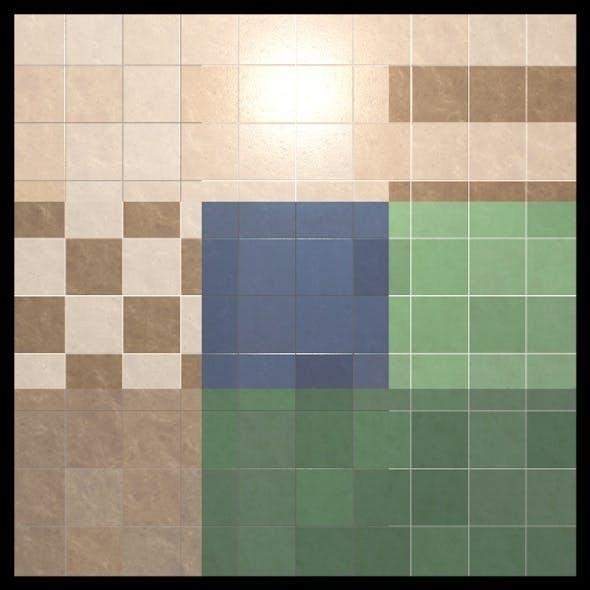 9 Tiles Shaders Cinema 4D