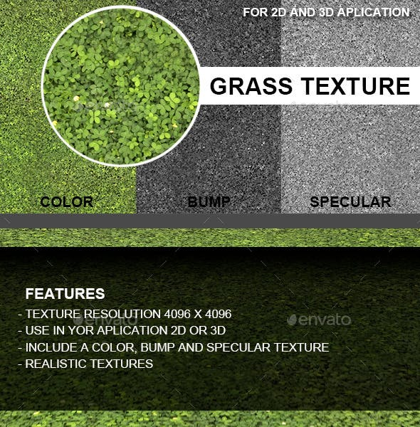 Grass Texture - 3DOcean Item for Sale