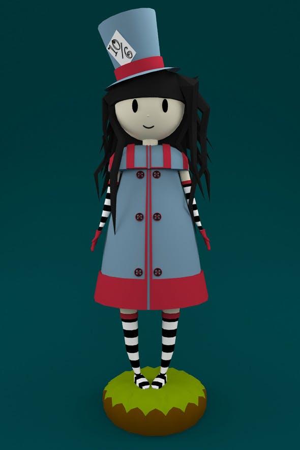 Mad Hatter Doll - 3DOcean Item for Sale