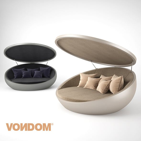 Vondom ULM Daybed with Parasol - 3DOcean Item for Sale