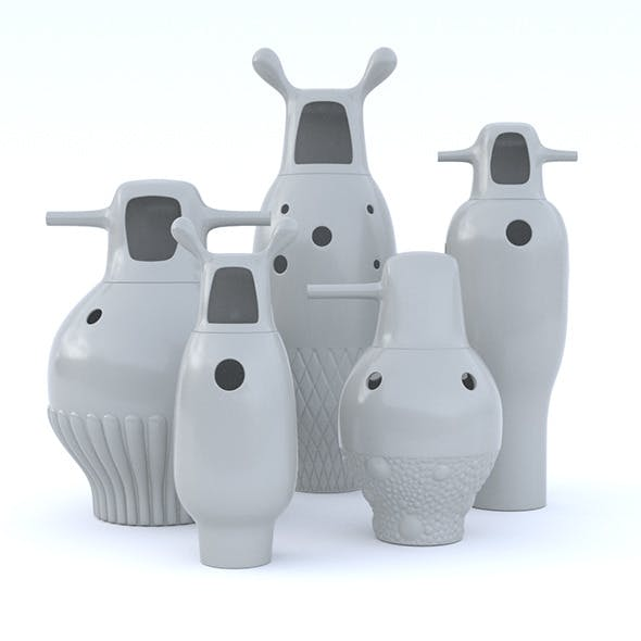 Jaime Hayon Vases - 3DOcean Item for Sale