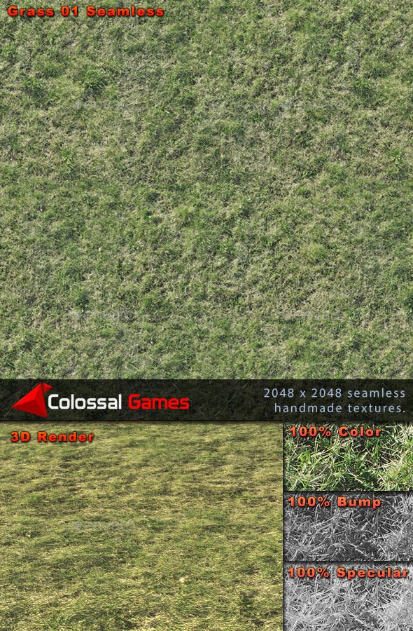 Seamless Photo Real Grass - 3DOcean Item for Sale