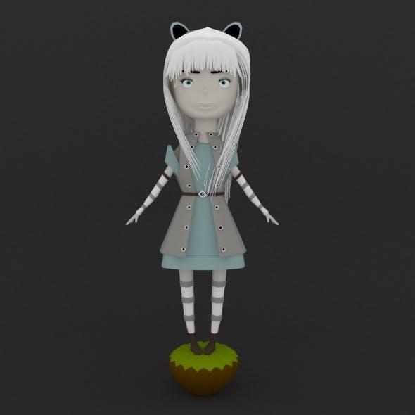 Snow Kitten Doll - 3DOcean Item for Sale